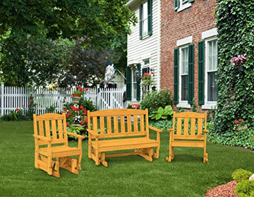 Pressure Treated Pine Outdoor English Garden Patio Set Amish Made USA-Fir Pine Stain