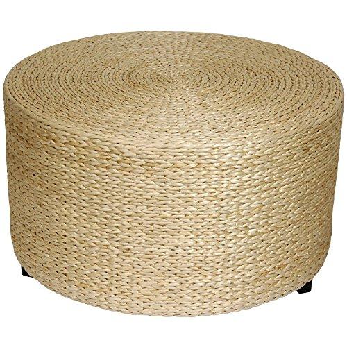 Oriental Furniture Rush Grass Coffee Table/Ottoman – Natural