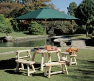 Cedarlooks 020013A Log Round Umbrella Table, 48-Inch