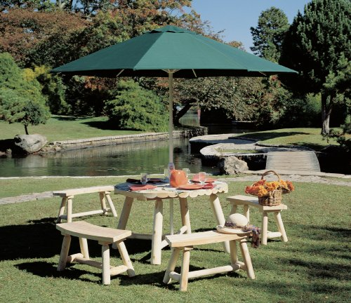 Cedarlooks 020013A Log Round Umbrella Table, 48-Inch
